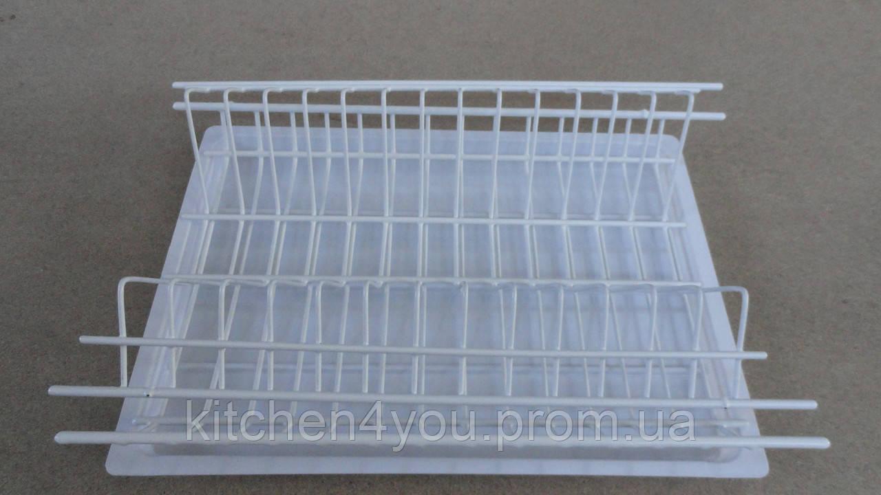 Встраиваемая белая сушка для посуды  в секцию 400 мм.