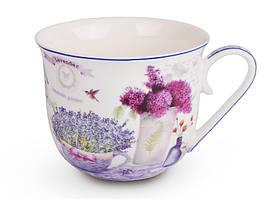 Чашка фарфоровая Лаванда 500 мл 924-245