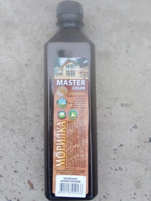 Морилка красно-коричневая 0,4л Master Color
