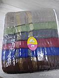 Махровые полотенца в комплекте с вышивкой для бани Размер 70Х140 6 шт., фото 3