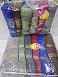 Махровые полотенца в комплекте с вышивкой для бани Размер 70Х140 6 шт., фото 2