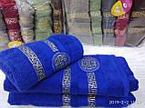 Махровые полотенца в комплекте с вышивкой для бани Размер 70Х140 6 шт., фото 6
