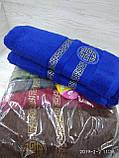 Махровые полотенца в комплекте с вышивкой для бани Размер 70Х140 6 шт., фото 4