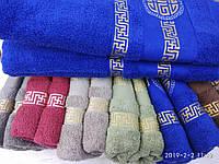 Махровые полотенца в комплекте с вышивкой для бани Размер 70Х140 6 шт., фото 1