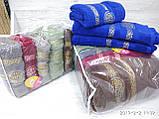 Махровые полотенца в комплекте с вышивкой для бани Размер 70Х140 6 шт., фото 9