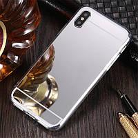 Чехол для Apple Iphone XR силикон зеркальный металлик