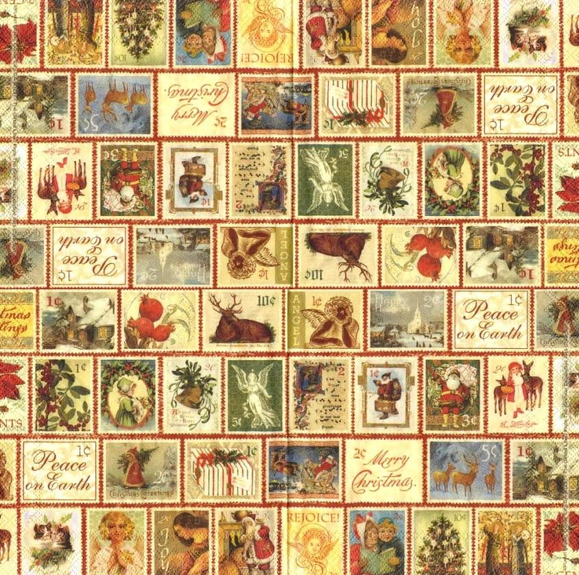 Cалфетка Новогодние марки 4187