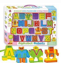 Буквы-трансформеры 500-22 (24) Aiphabet Robots Английский алфавит, в коробке