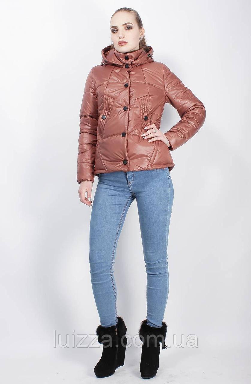 Демисезонная куртка коричневая 44-50