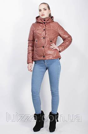 Демисезонная куртка коричневая 44-50, фото 2
