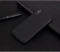 Чехол для Apple Iphone XR силикон soft touch бампер черный