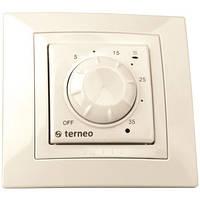 Механический терморегулятор для обогревателя Terneo rol.Слоновая кость
