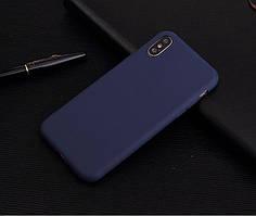 Чехол для Apple Iphone XR силикон soft touch бампер темно-синий