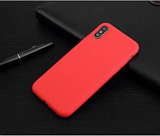 Чехол для Apple Iphone XR силикон soft touch бампер красный