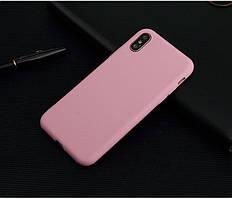 Чехол для Apple Iphone XR силикон soft touch бампер светло-розовый