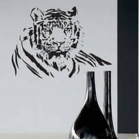 Интерьерная наклейка Сибирский тигр (самоклеющиеся наклейки животные Африка декор стен) матовая 900х672 мм, фото 1