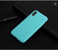 Чехол для Apple Iphone XR силикон soft touch бампер мятно-голубой