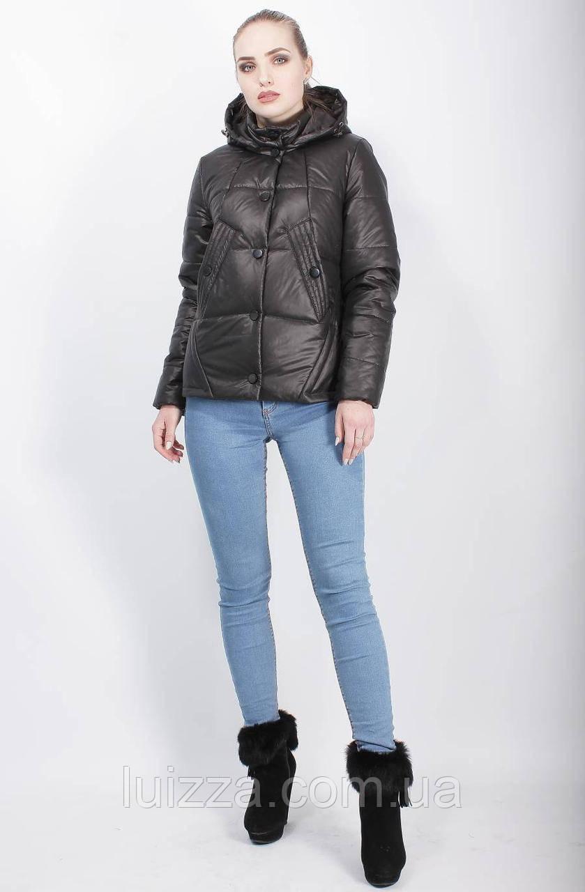 Демисезонная куртка черная 44-50