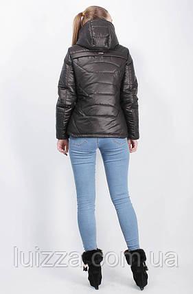 Демисезонная куртка черная 44-50, фото 2