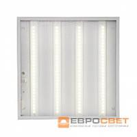 LED светильник унив. 595*595мм ЕВРОСВЕТ 36W 4000K Prismatic (LED-SH-595-20) 3000Lm