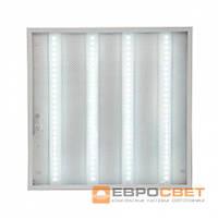 LED светильник унив. 595*595мм ЕВРОСВЕТ 36W 6400K Prismatic (LED-SH-595-20) 3000Lm