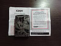 Зажигалка бензиновая Зиппо Zippo «NIGHT-WOLF»Лазерная гравировка,копия, фото 1