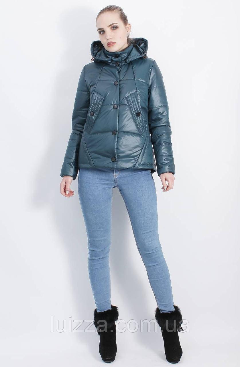 Бирюзовая женская куртка осень-весна 44-50