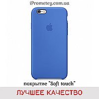 Силиконовый чехол Apple Silicone Case iPhone 7/8 Лучшее/Премиум качество! Soft touch покрытие чехлы на айфон Лучшее, 03 Royal blue Синий