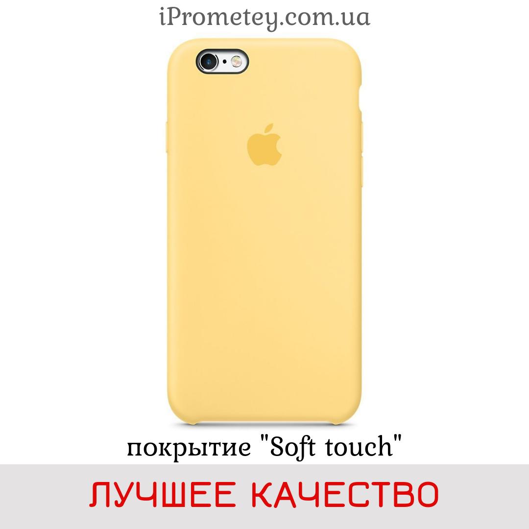 Силиконовый чехол Apple Silicone Case iPhone 7/8 Лучшее/Премиум качество! Soft touch покрытие чехлы на айфон Лучшее, 04 Yellow Pollen Жёлтый