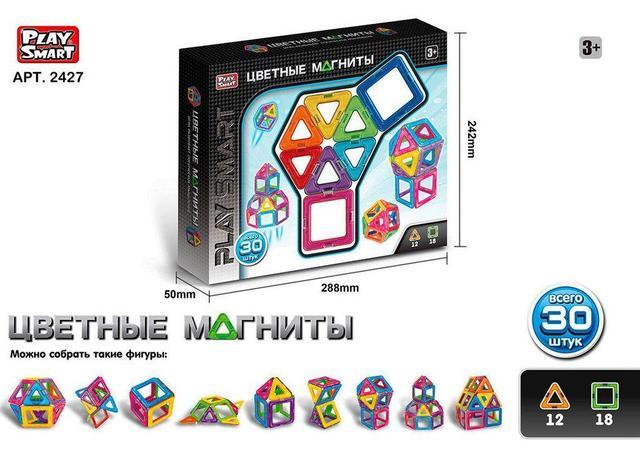 Магнитный конструктор 2427 Play Smart, 30 деталей купить