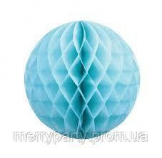 Шар соты из тишью 20 см голубой