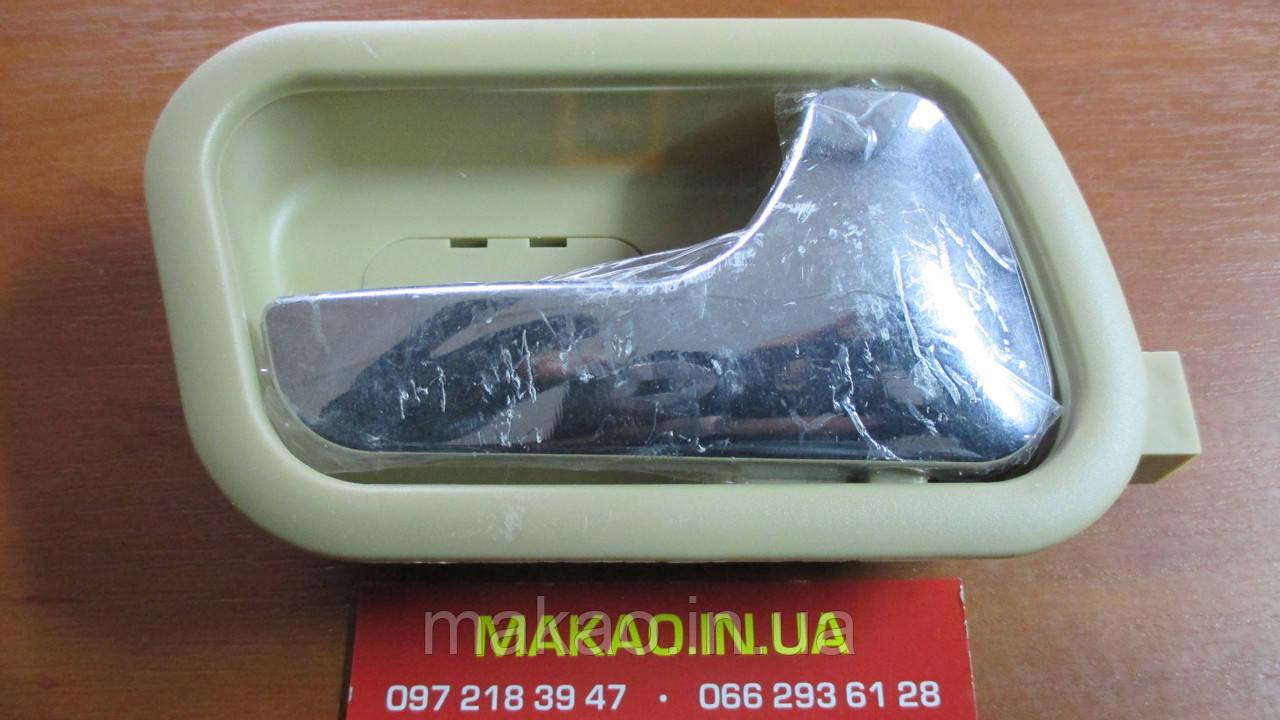 Ручка дверей внутрішня права бежева ZAZ Forza, Chery A13/ ЗАЗ Форза