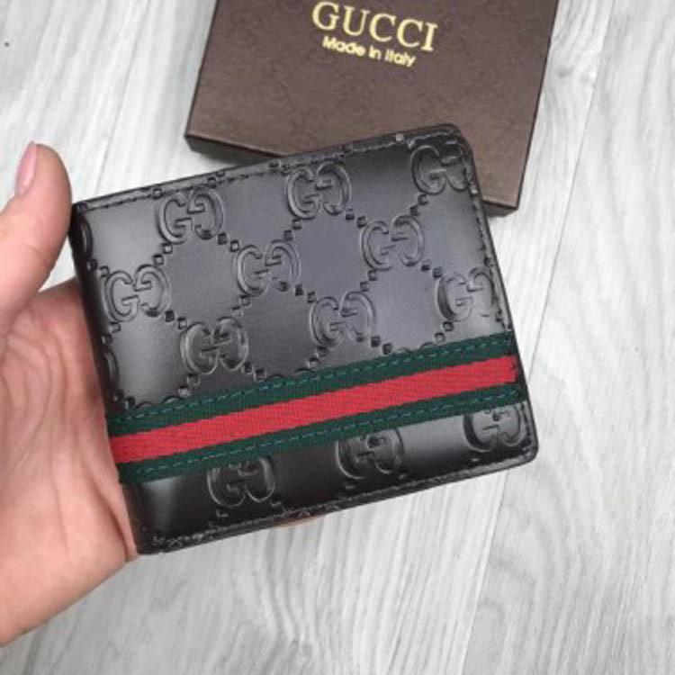 e25c6effa399 Молодежный кошелек Gucci Web GG Supreme темно коричневый женский мужской  бумажник эко кожа Гуччи реплика