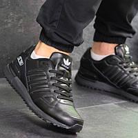 Мужские кроссовки демисезонные, чёрные, Adidas ZX 750 (в наличии 44, 45, 46 р)