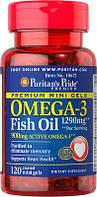 Omega-3 Fish Oil 1290 mg Mini Gels (450 mg Active Omega-3) 120 Coated Softgels