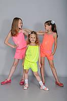 Детский летний костюм для девочки шорты и майка