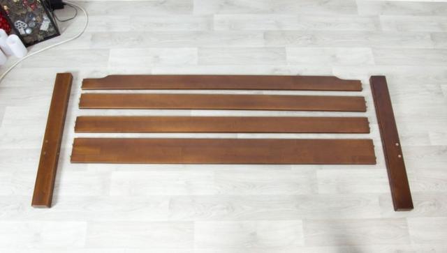 Кровать Ольга (буковый щит) сборка