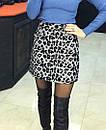 Юбка с крупным леопардовым принтом, фото 4