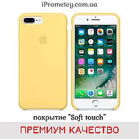 Силиконовый чехол Apple Silicone Case iPhone 7/8 Лучшее/Премиум качество! Soft touch покрытие чехлы на айфон Премиум, 04 Yellow Pollen Жёлтый