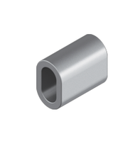 Зажим алюминиевый (алюминиевая втулка) М 1.0 для троса и каната DIN 3093