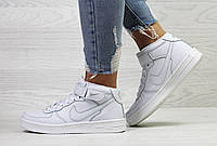 Женские кроссовки белые Nike Air Force 6371 (Кросівки кроси найк жіночі  взуття спортивне обувь спортивная) d345b1dc263b5
