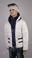 Куртка для девочек 18-23 delfin-free, р.116-140, 6-11 лет, белый, фото 1
