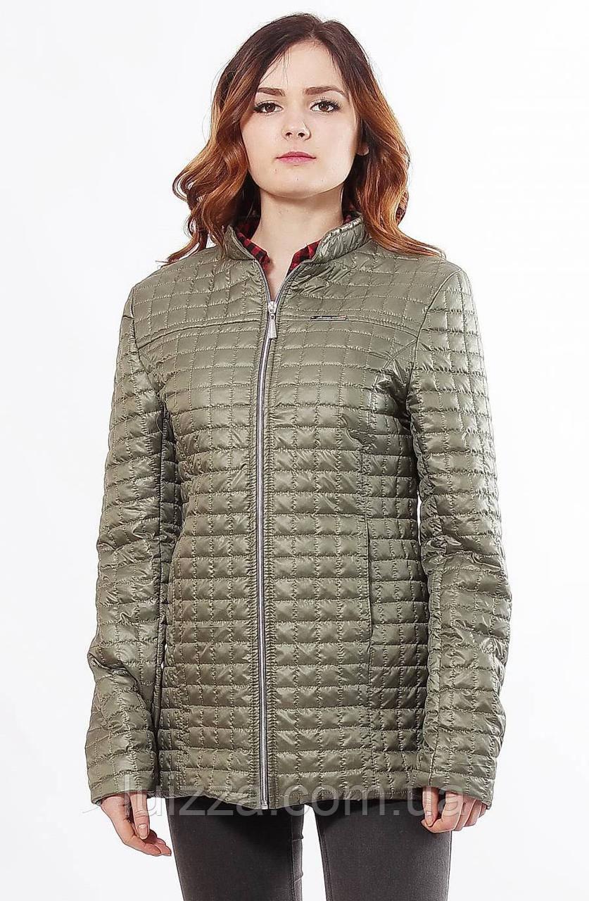 Хаки женская куртка осень-весна 44-68