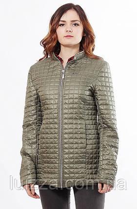 Хаки женская куртка осень-весна 44-68, фото 2