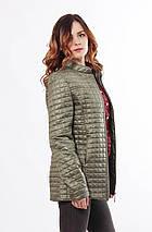 Хаки женская куртка осень-весна 44-68, фото 3