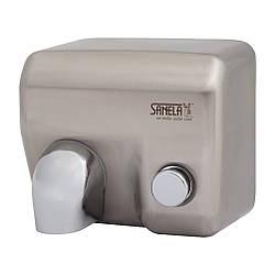 Сушарка для рук з кнопкою на передній панелі, нержавіюча сталь