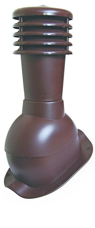 Вентиляционный выход с колпаком Kronoplast KBN для металлочерепицы низкий профиль волна до 24 мм. Черный - Оксамит Винница в Виннице