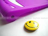Фиолетовый мягкий чехол для планшета Lenovo Yoga Tablet 3 10 X50 (YT3 - X50M, X50L) бампер силиконовый TPU, фото 3