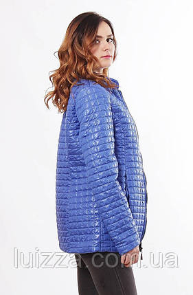 Светло-синяя женская куртка осень-весна 44-68, фото 2
