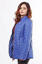 Светло-синяя женская куртка осень-весна 44-68, фото 3